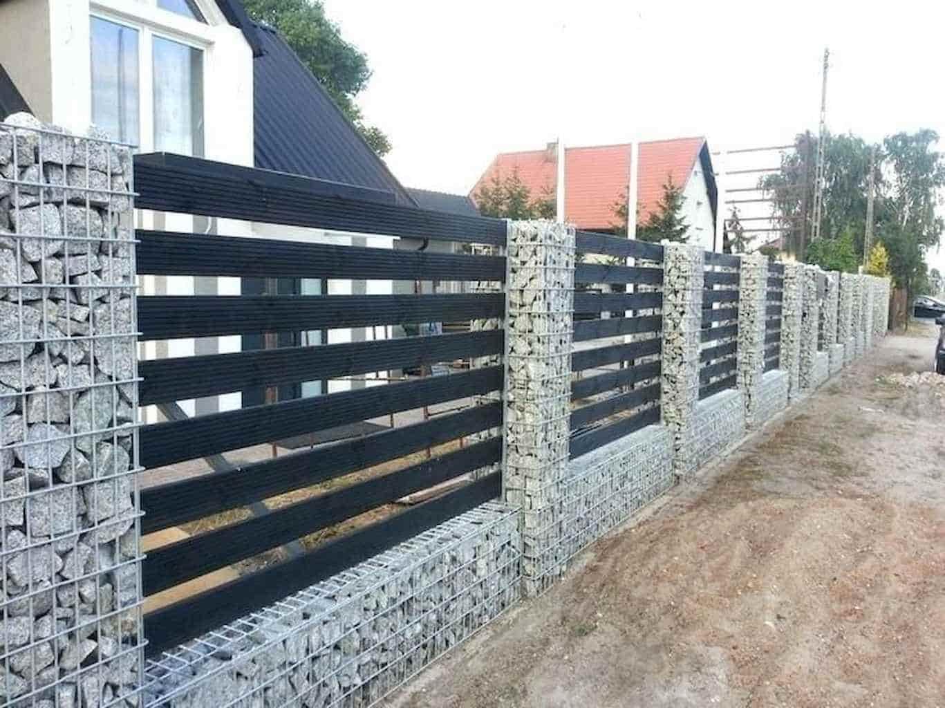 gabion kerítés