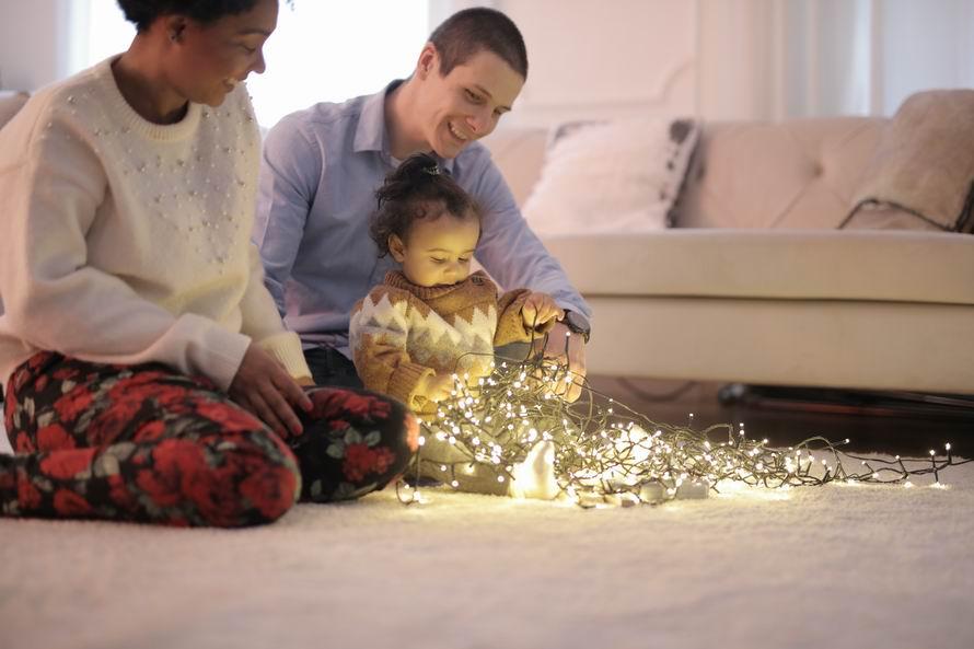 A LED füzér fényei a legkisebbeket is elvarázsolják